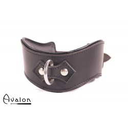 Avalon - GUARDED - Collar med god Polstring, Svart