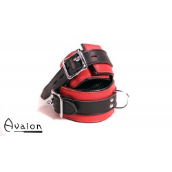 Avalon - CAPTURE - Håndcuffs i Rødt og Svart Lær