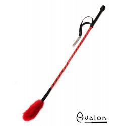Avalon - UNICORN - Ridepisk med pels flipp  - Rød