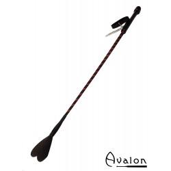 Avalon - COURAGE - Ridepisk med Hjerteflipp - Svart
