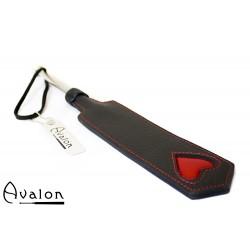 Avalon - ENCHANTRESS - Smal Paddle med Hjerte og Metallhåndtak - Svart og Rød