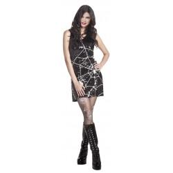 Sort Paljett kjole med spindelvev