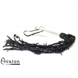 Avalon - DRUID - Piggtrådflogger i Svart Lær