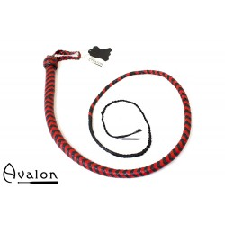 Avalon - BEHEMOTH - Bullwhip Heavy Handle, Svart og Rød  1,5 m