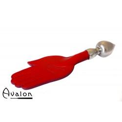 Avalon - PERCIVAL - Paddle med håndform og dråpeformet håndtak - Rød