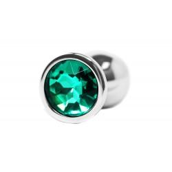 BQS - Buttplug med Krystall - Grønn