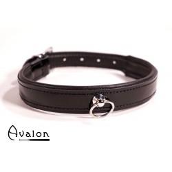 Avalon - SECRET - Collar med blank overflate og O-ring - Sort