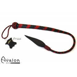 Avalon - WYVERN - Kort bullwhip, Sort og rød