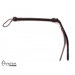Avalon - HOUND - Svart flettet Pisk med Bøybar Tupp