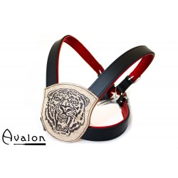 Avalon - ANIMAL - Harness med Tigertrykk - Svart og Rød