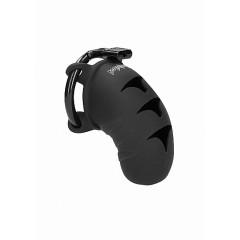 """Man Cage - Model 7 - Silikon Kuklås 3,1"""" Sort"""