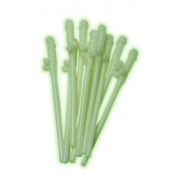 Penissugerør 10-pakk selvlysende