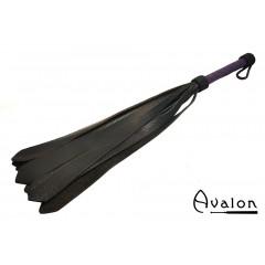 AVALON - MODRON - Flogger med brede haler - Sort og lilla