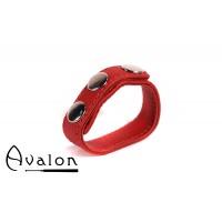 Avalon - HILT - Enkel Penisring i Lær - Rød