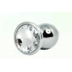 BQS - Buttplug med Krystall - Klar - Large