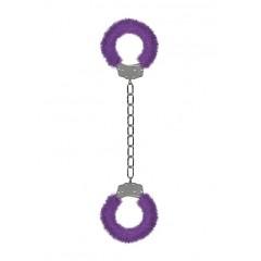 Shots Toys - Ankel/Håndcuffs i Metall med Plusj - Lilla