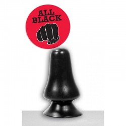 All Black - AB 39 Buttplug med Sugekopp