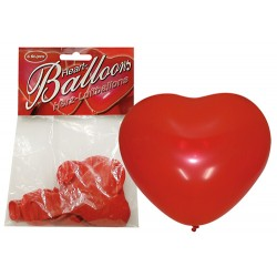 Hjerteformede ballonger, 6pk