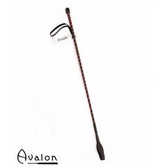 Avalon - Klassisk enkel ridepisk - Sort og rød