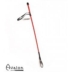 Avalon - Klassisk enkel ridepisk - Rød og sort