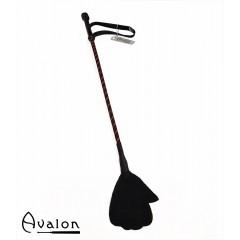 Avalon - Ridepisk med håndflipp - Sort