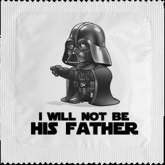Kondom - I WILL NOT BE HIS FATHER 1 stk