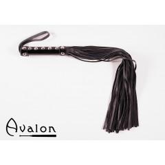 Avalon - Sort flogger med håndtak med nagler