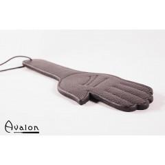 Avalon - Paddle med håndform i massivt lær