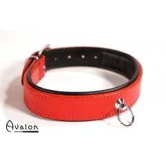 Avalon - Klassisk collar med O-ring rød og sort