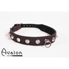 Avalon - Collar med blanke stener og O-ring