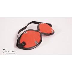 Avalon - Blindfold med nagler Rød og Sort