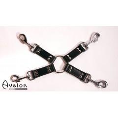 Avalon - Sort Hog-tie-sett med 4 deler