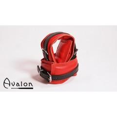 Avalon - Polstrete ankelcuffs Rød og sort