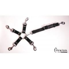 Avalon - Sort Hog-tie-sett med 5 deler
