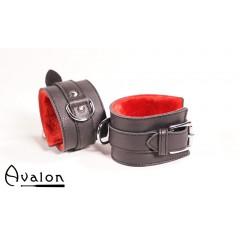 Avalon - Sorte Håndcuffs med rød plysj