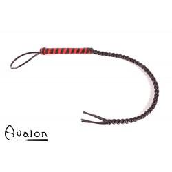 Avalon - RANGER - Sort og rød flettet silikonflogger
