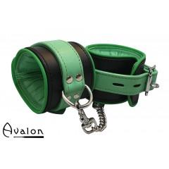 Avalon - Sengekos - Faerie - Polstrede Håndcuffs - Sort og Grønn