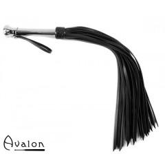 Avalon - HOLY GRAIL - Svart Flogger med Metallhåndtak med Kule