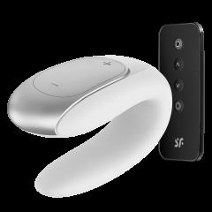 Satisfyer Double Fun - Parvibrator med APP og Fjernkontroll - Hvit