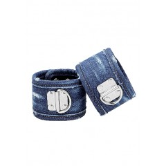 Ouch! Denim Fotcuffs - Blå Denim