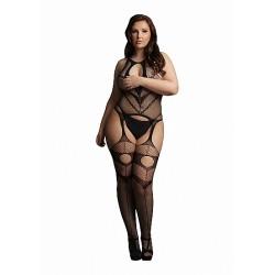 Le Desir - Frekk Catsuit av Netting - Plus size