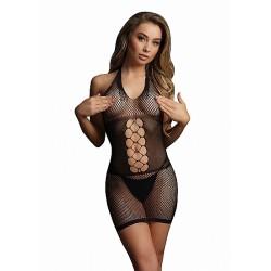 Le Desir - sexy nettingminikjole med åpning bak