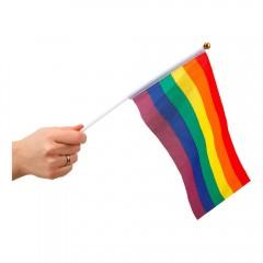 Pride flagg på pinne - Regnbue