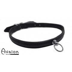 Avalon - HELEN - Enkelt Collar med O-ring Svart